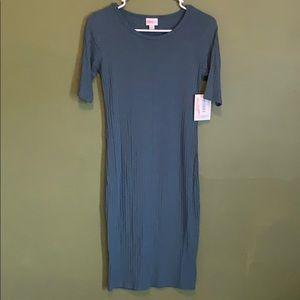 Lularoe nwt blue julia dress xs